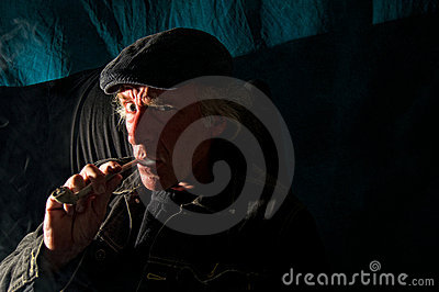 Dangerous man in dark