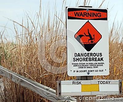 Dangerous Shorebreak Warning