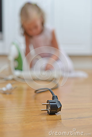 Free Dangerous Situation At Home. Stock Images - 43796874