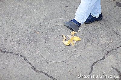 Step on the banana