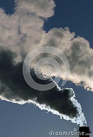 Dangerous toxic smoke clouds
