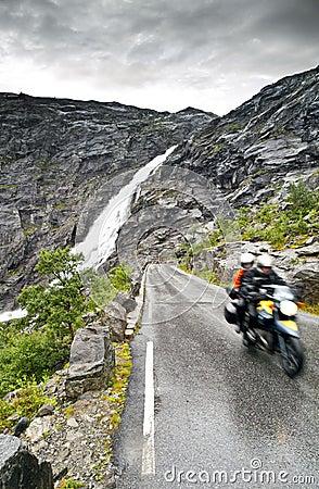 Dangerous wet road