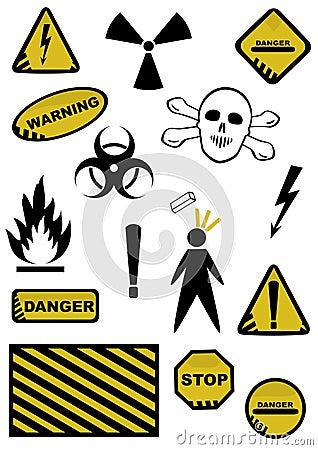 Dangers signs