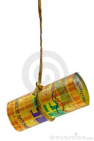 Dangling Swiss Franc