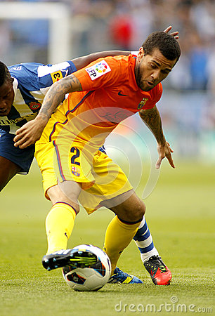 Dani Alves of FC Barcelona Editorial Image