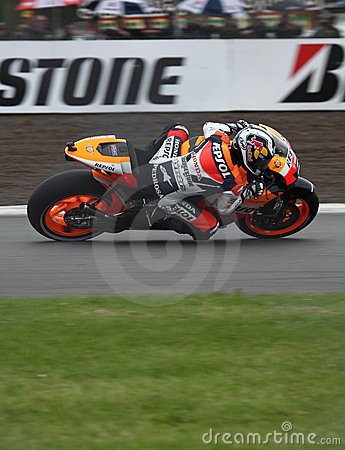 Dani Pedrosa Donington MotoGP 2009 Editorial Photography