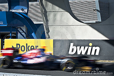 Danial Ricciardo - F1 Test Jerez 2012 Editorial Stock Image