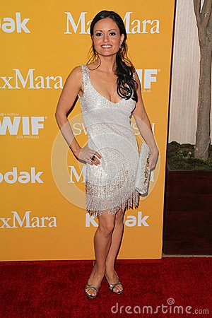 Danica McKellar at the Women In Film Crystal + Lucy Awards 2012, Beverly Hilton Hotel, Beverly Hills, CA 06-12-12 Editorial Stock Image