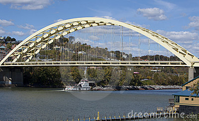 Daniel Beard Bridge  and Tug