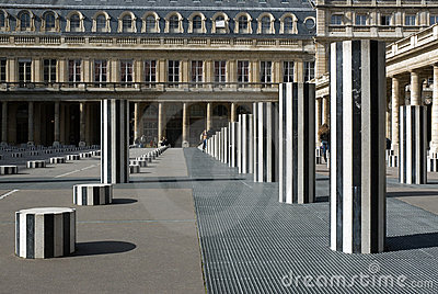 Daniel Buren s Columns. Paris, France