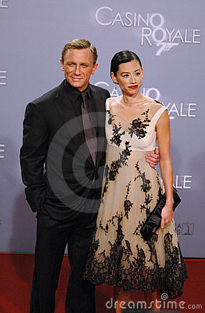 Daniel Craig with girlfriend Satsuki Mitchell Editorial Stock Image