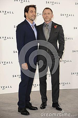 Daniel Craig, Javier Bardem, James Bond Editorial Image