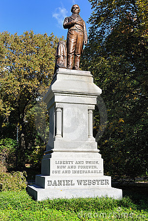 Daniel Webster Statue in Central Park