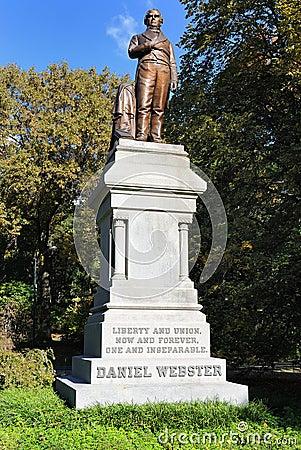 Daniel Webster Statue in Central Park
