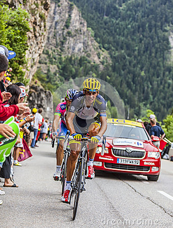 Daniele Bennati Climbing Alpe D Huez Editorial Stock Photo