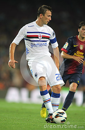 Daniele Gastaldello of UC Sampdoria Editorial Image
