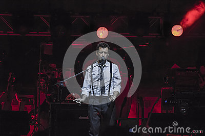 Daniele silvestri live on stage Editorial Photography