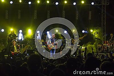Daniele silvestri live on stage Editorial Photo