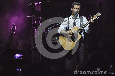 Daniele silvestri live on stage Editorial Stock Image