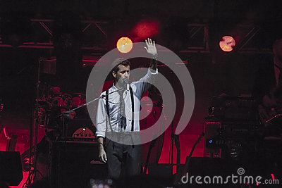 Daniele silvestri live on stage Editorial Stock Photo