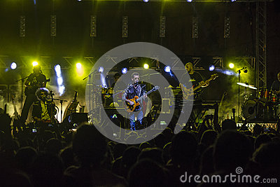 Daniele silvestri live on stage Editorial Image
