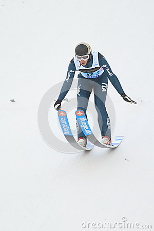 Daniele Varesco - ski jumping Editorial Stock Image