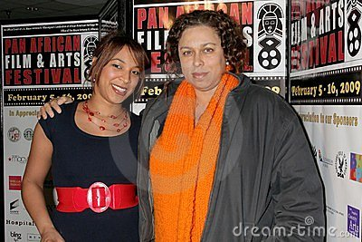 Daniella Blechner and Lydia Martinelli at the Pan African Film Festival Premiere of  Layla . Culver Plaza Theatre, Culver City, CA Editorial Photo