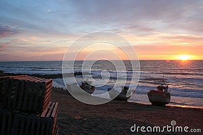 Danish beach sunset
