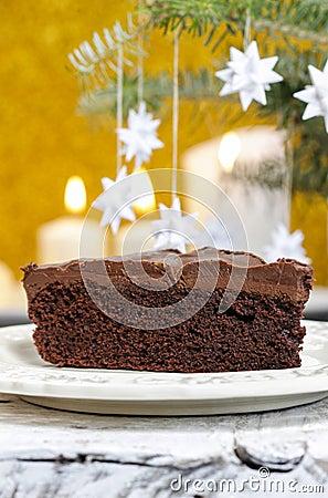 Danish christmas cake Stock Photo