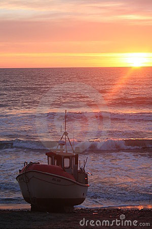 Danish Fishing Boat at sunset