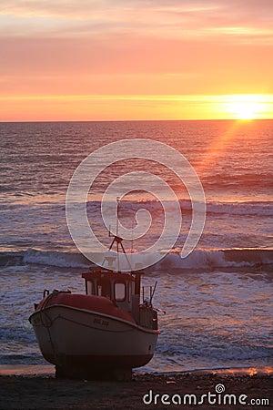 Danish Fishing Boat at sunset