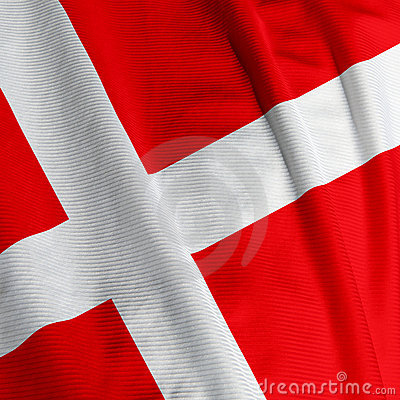 Danish Flag Closeup