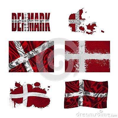 Danish flag collage