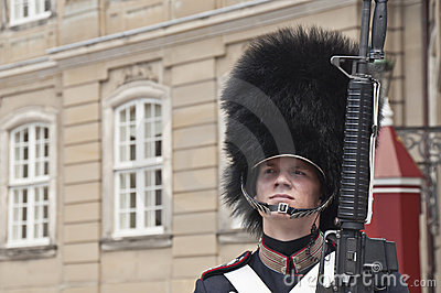 Danish guardsman Editorial Stock Photo