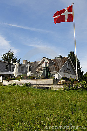Danish Inn with Flag