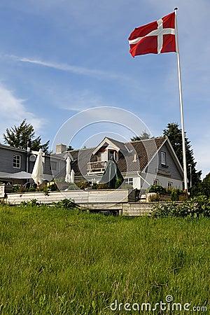 Danish Inn with Flag