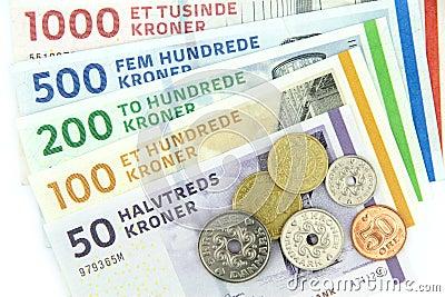 Danish kroner ( DKK ),