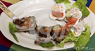 Danish open sandwiches