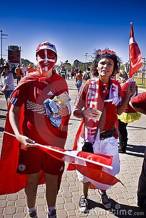 Danish Soccer Supporters - FIFA WC Editorial Stock Image