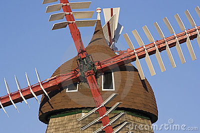 Danish Windmill Stock Photography - Image: 10797802