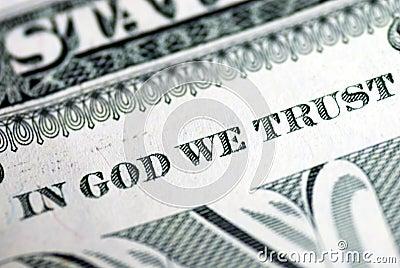 Dans Dieu nous faisons confiance
