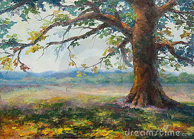 Dans l ombre du vieux chêne seul