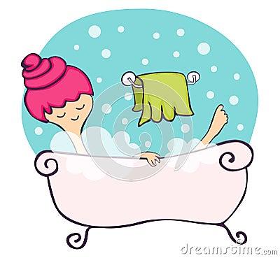 Dans la baignoire