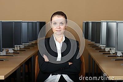 Dans le laboratoire d ordinateur
