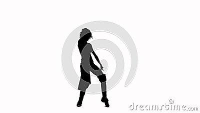 Dansend meisje stock videobeelden