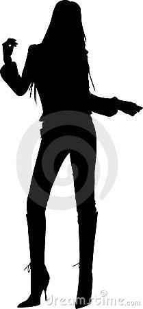 Dansend meisjessilhouet