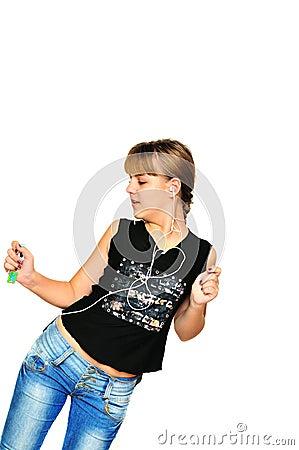 Dansend tienermeisje stock foto 39 s afbeelding 12380513 - Tiener meubilair ruimte meisje ...