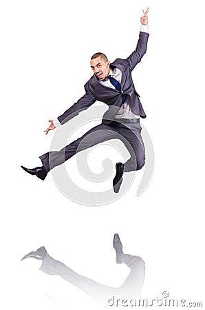 Dansende zakenman