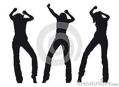 Dansende meisjes