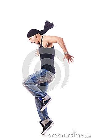 Het dansen van de danser